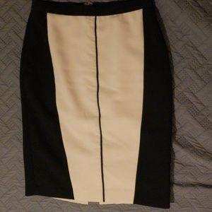 Slimming colorblock Ann Taylor pencil skirt